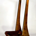 Studio Guitar Stand - Figured Cherry, Flame Maple, or Fancy Walnut